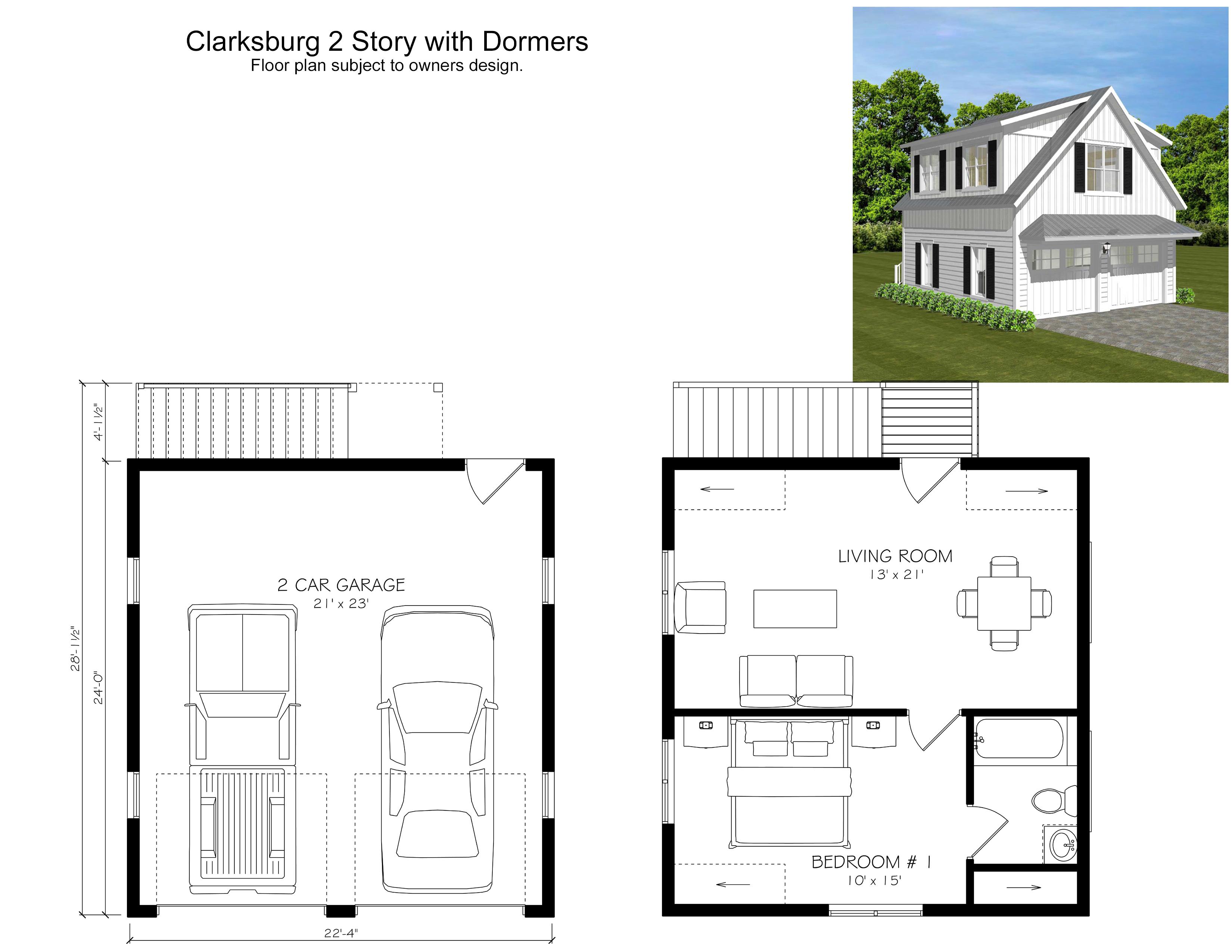 Clarksburg 2 Story with Dormers